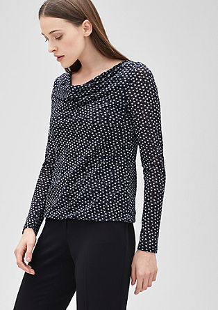 Mesh top with stars from s.Oliver