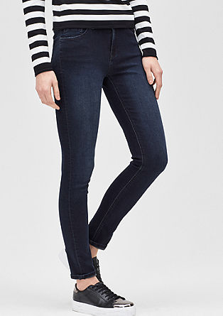 Slim: Dunkle Stretch-Jeans