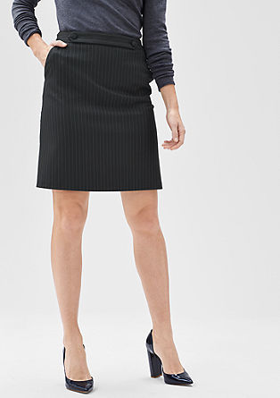 Short skirt with pinstripes from s.Oliver