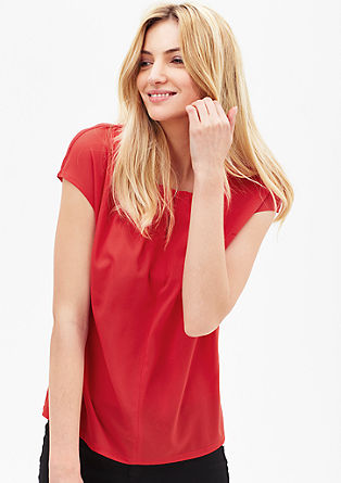 Blouse top with unusual neckline from s.Oliver