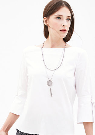 Lightweight blouse with trumpet sleeves from s.Oliver
