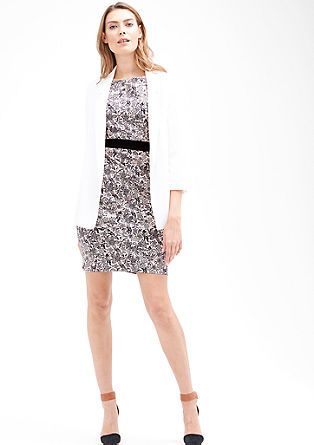 Sheath dress with an all-over floral print from s.Oliver