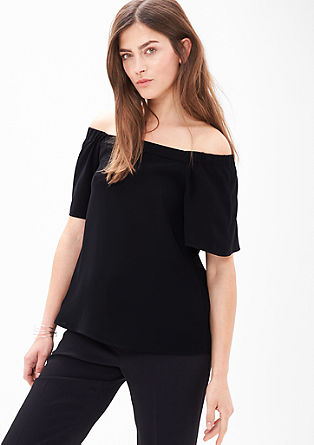 Schlichte Off Shoulder-Bluse