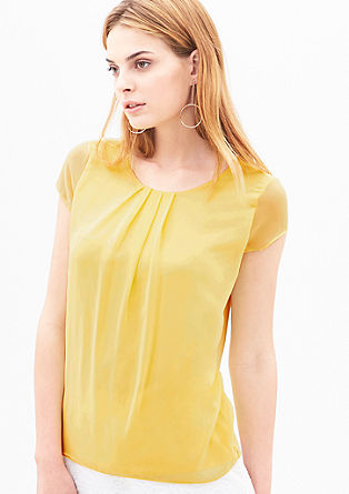 Blouse top with chiffon layers from s.Oliver