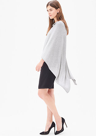 Lightweight poncho with glitter effects from s.Oliver