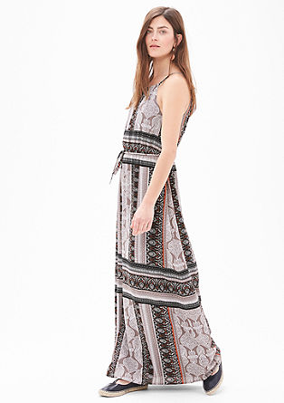 Maxi dress with an all-over pattern from s.Oliver