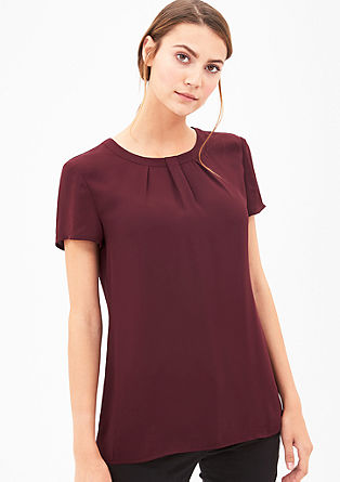Crêpe blouse met geplooid detail