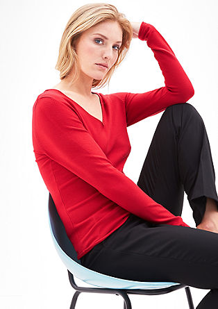 Soft jumper with a rolled hem from s.Oliver