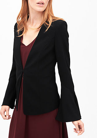 Crêpe blazer with trumpet sleeves from s.Oliver
