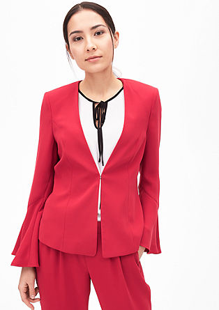 Fitted blazer with trumpet sleeves from s.Oliver
