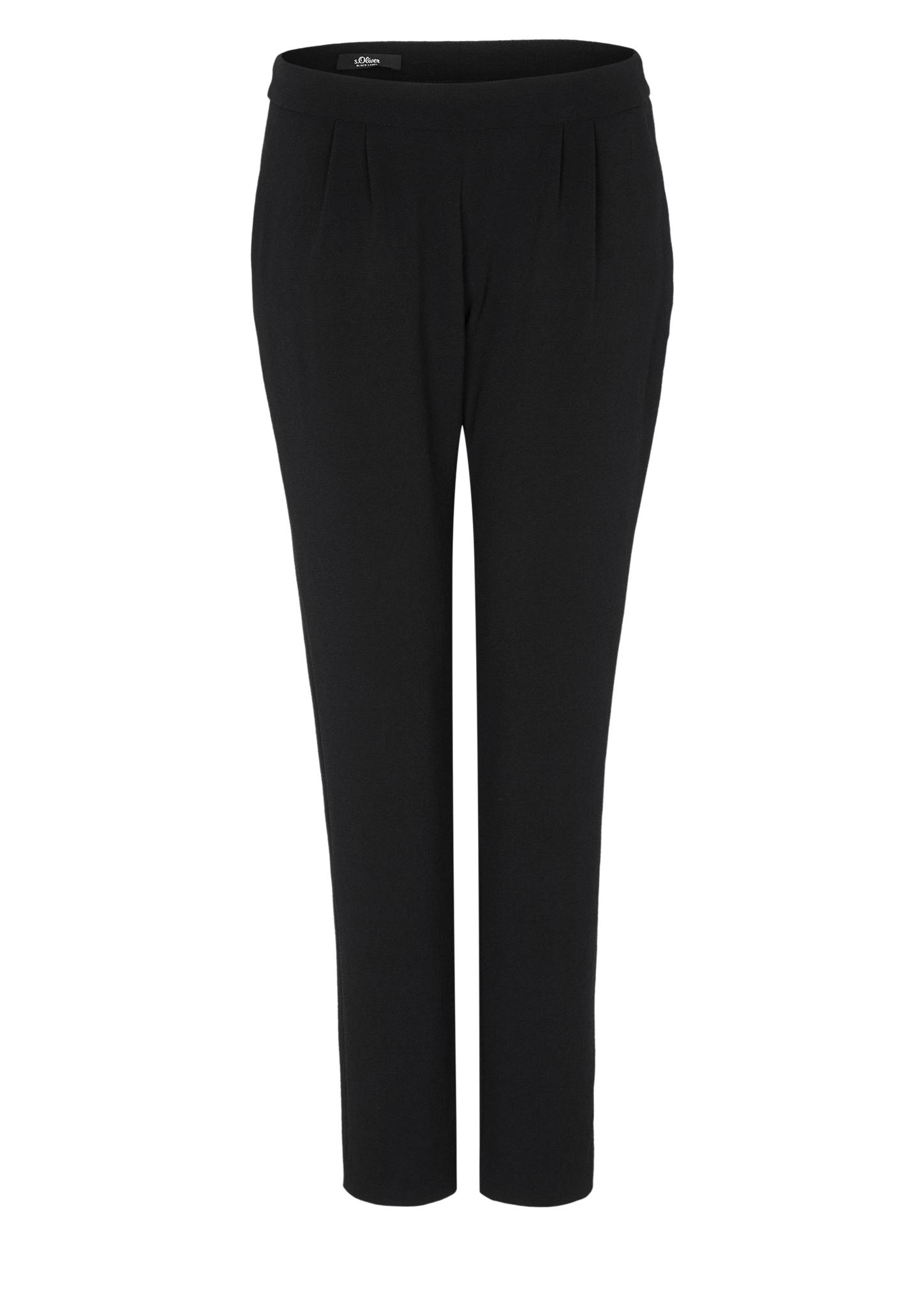 Bundfaltenhose | Bekleidung > Hosen > Bundfaltenhosen | Grau/schwarz | Obermaterial 97% polyester -  3% elasthan| futter 100% acetat | s.Oliver BLACK LABEL