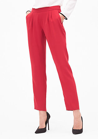 Elegant trousers with waist pleats from s.Oliver