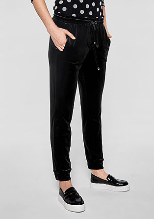 Velvet tracksuit bottoms from s.Oliver