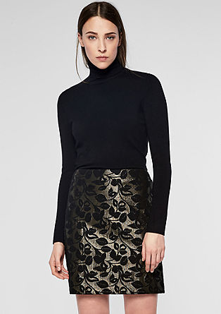 Mini skirt in glittery jacquard from s.Oliver