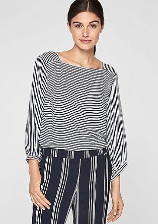 Airy crêpe blouse top from s.Oliver