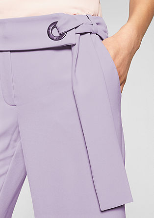 Culottes: crêpe trousers with a tie-around belt from s.Oliver