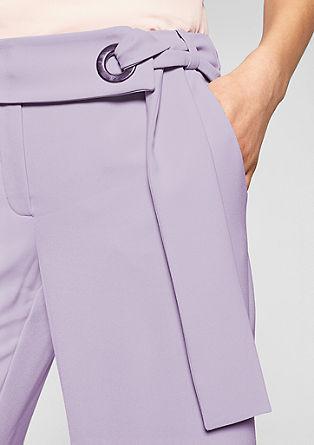 Culotte: crêpe broek met strikband