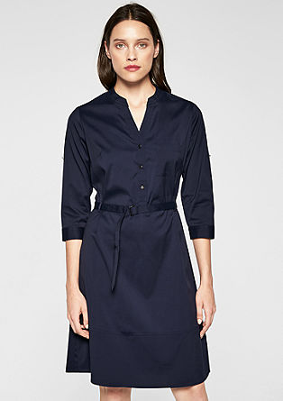 Poplin dress with turn-up sleeves from s.Oliver