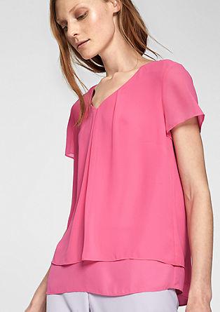 Chiffon blouse met een laagjeslook