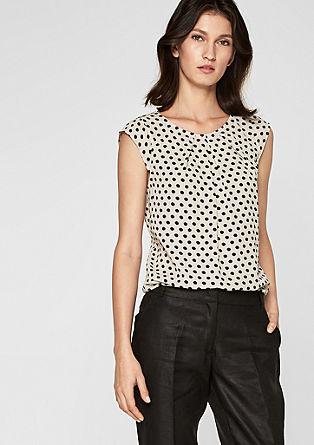 Chiffon blouse met motief