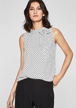 Mouwloze blouse met strikdetail