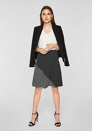 Patterned stretch skirt from s.Oliver