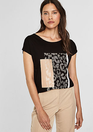 Print T-shirt with tie detail from s.Oliver
