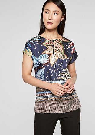 Satijnen shirt met print