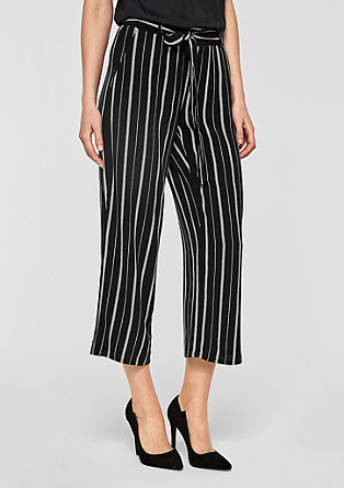 Flowing culottes with stripes from s.Oliver