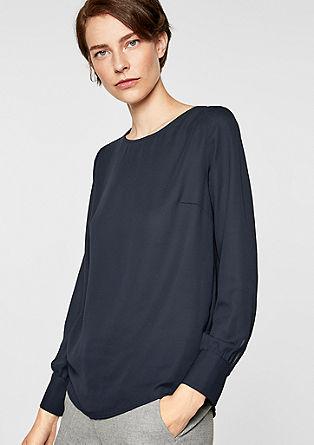 Chiffon blouse met een cut-out aan de achterkant