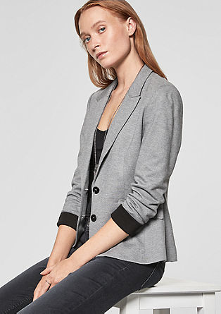 Jersey blazer with contrasts from s.Oliver