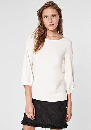 Shirt met boothals en een fijne structuur