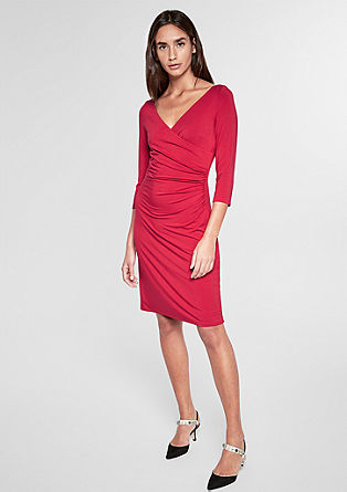 Mooi gerimpelde jersey jurk