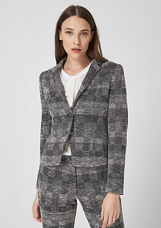 Fitted blazer with woven pattern from s.Oliver