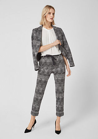 Rachel Slim: trousers with a woven pattern from s.Oliver