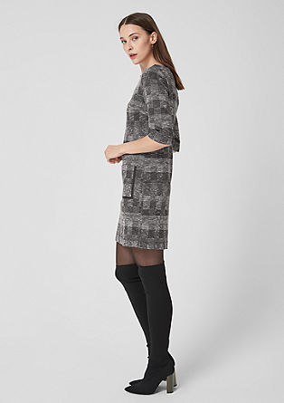 Dress with woven pattern from s.Oliver