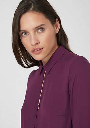 Blouse with fabric buttons from s.Oliver