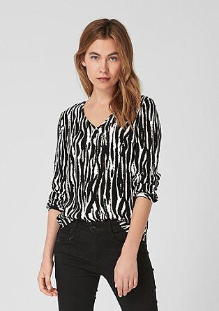 Viscose blouse met dierenprint