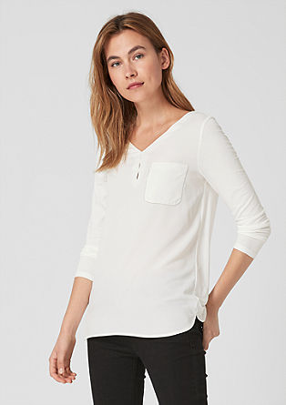 Elegant top with a blouse front from s.Oliver