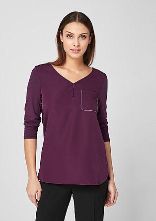 Elegantes Shirt mit Blusenfront
