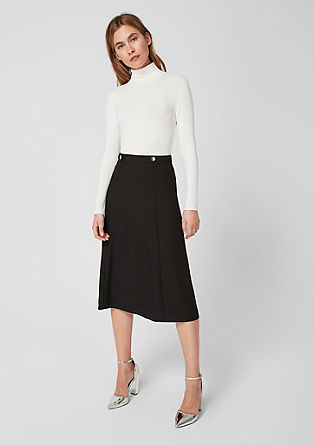 Flared crêpe midi skirt from s.Oliver