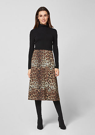 Skirt with a leopard print from s.Oliver