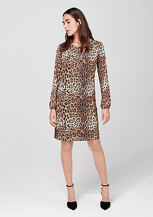 Dress with a leopard print from s.Oliver