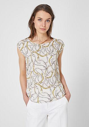 Blouseachtig shirt met sjaalprint