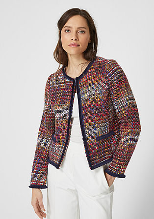 Multicolour-Blazer aus Tweed
