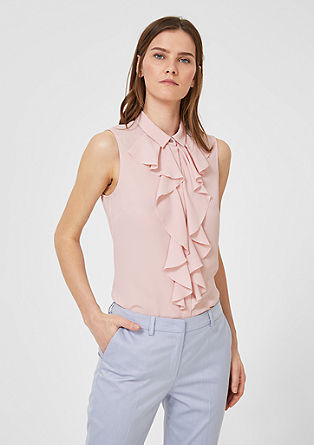 Flounce blouse top from s.Oliver