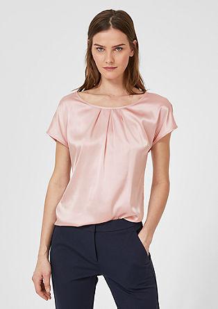 Blouseachtig shirt met zijde
