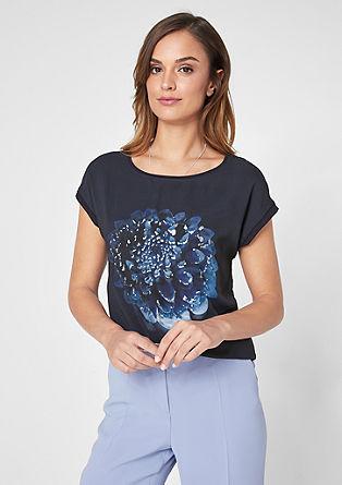T-Shirt mit Chiffon-Layer