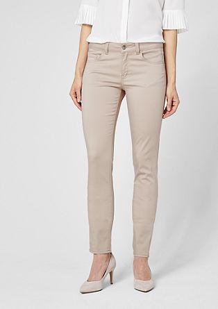 Sienna slim: cropped broek van satijn
