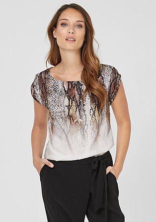 Jersey shirt met satijnen voorkant